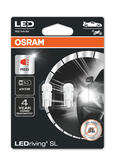 Osram LED Red W5W Brake Light Bulbs 12v 1W (Wedge 501 5W) 2825DRP-02B Twin Pack