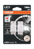 Osram LED Red Brake Light Bulbs P27/7W W2.5x16q 12v 1.7W 3157DRP-02B Twin Pack