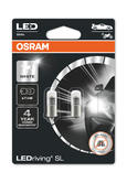 Osram LED T4W Cool White 6000K Bulbs BA9s 12v 1W (233 4W) 3893DWP-02B Twin Pack
