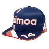 New! 2021 Special Edition Alonso #14 Flatbrim Cap Navy Alpine F1 Team by KIMOA