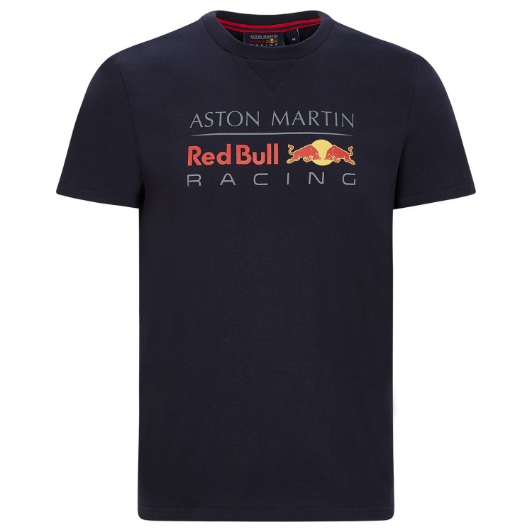 2020 Red Bull Racing F1 Mens Large Logo T-Shirt Tee Navy Official Merchandise