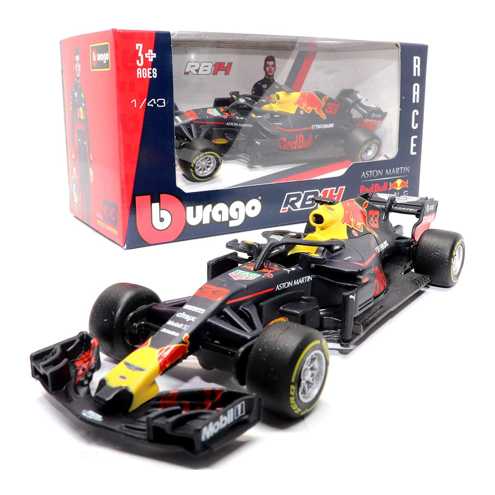 BBurago Red Bull Racing F1 Diecast Car RB14 1:43 Official Merchandise Age 3+