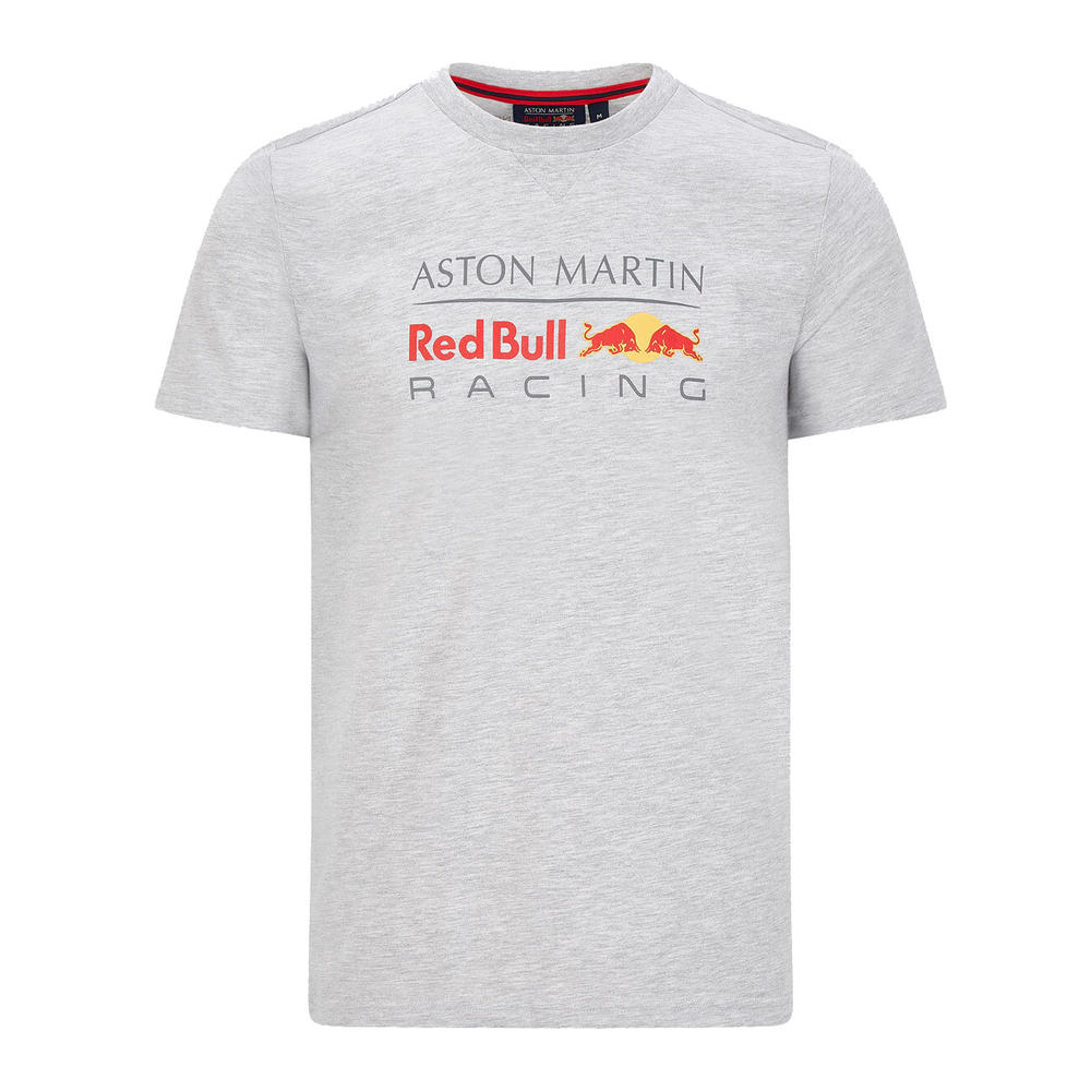 Sale! Red Bull Racing F1 Mens Large Logo T-Shirt Grey 2020 Official Merchandise