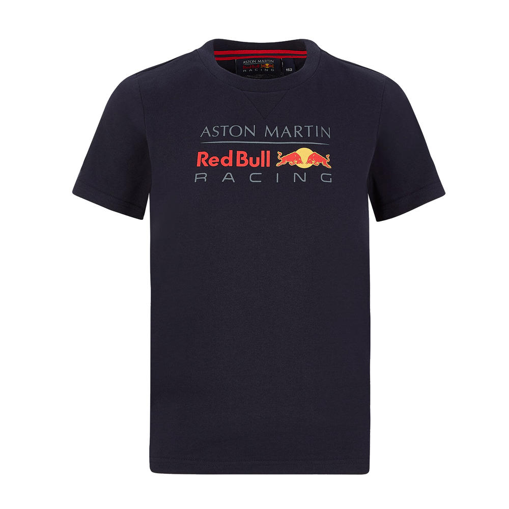 Sale! Red Bull Racing Kids Childrens Large Logo T-Shirt Navy Official Product