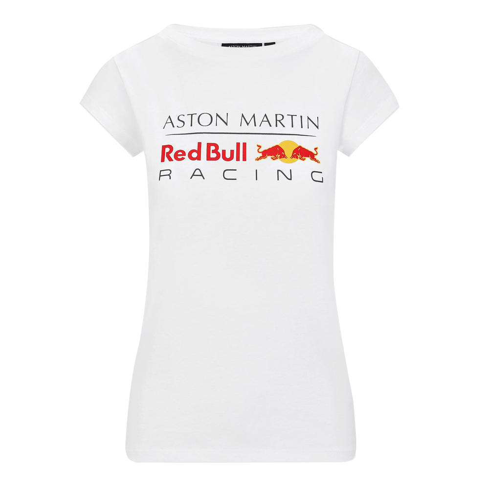 Sale! Red Bull Racing F1 Womens Ladies Large Logo T-Shirt White Tee Official