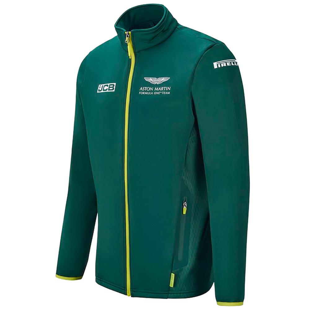 New! 2021 Aston Martin F1 Team Mens Softshell Fleece Jacket Official Merchandise