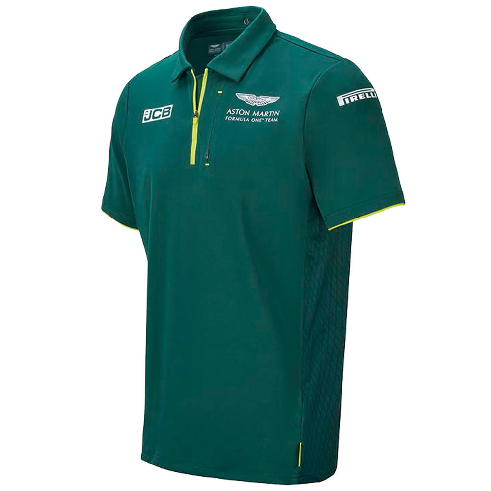 New! 2021 Aston Martin F1 Team Mens Polo Shirt Official Formula One Merchandise