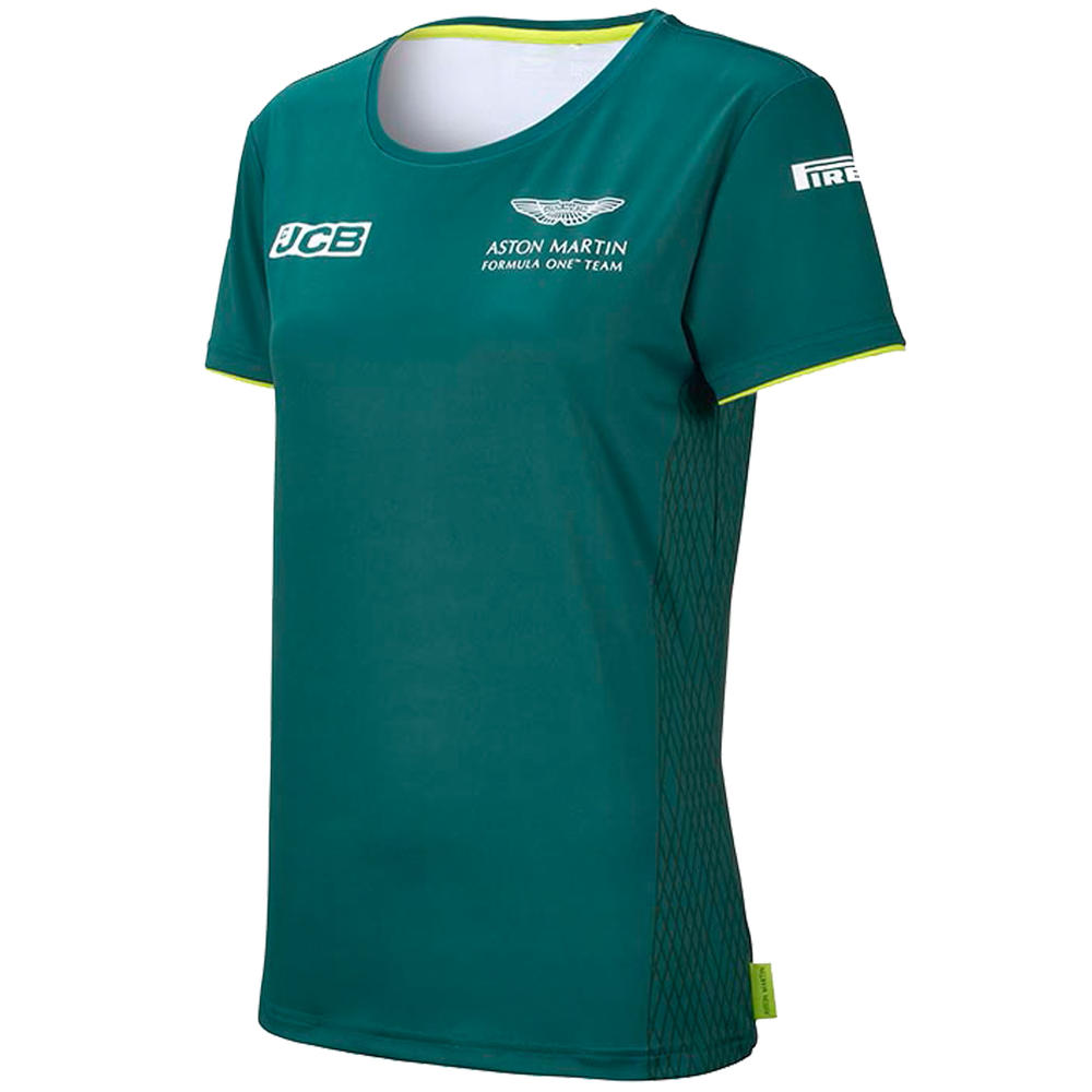 New! 2021 Aston Martin F1 Ladies T-Shirt Tee Womens Official Team Merchandise