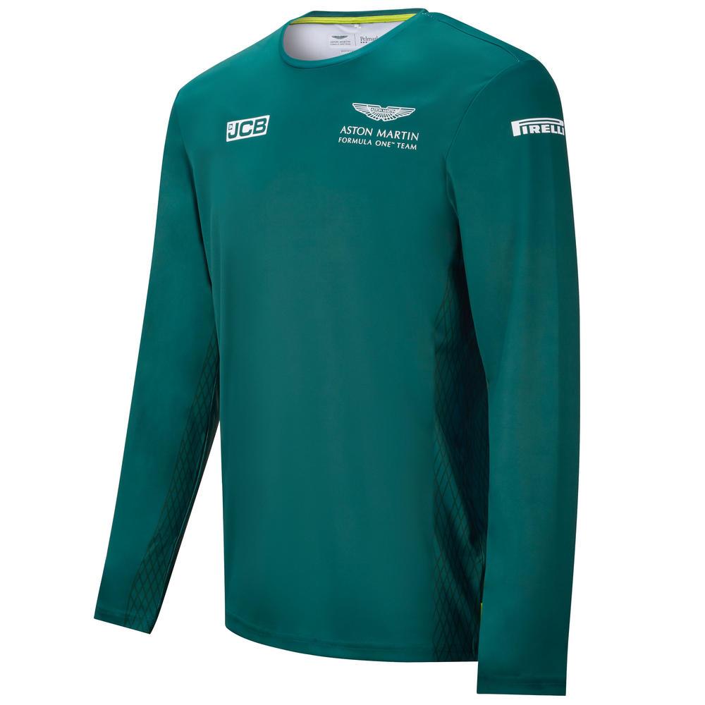 New! 2021 Aston Martin F1 Team Mens Tshirt Long Sleeve Top Official Merchandise