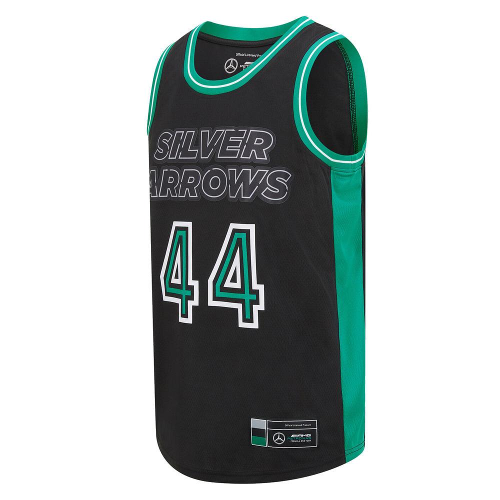 New! 2021 Lewis Hamilton #44 Basketball Vest Tank Top Tee Mercedes-AMG F1 Team