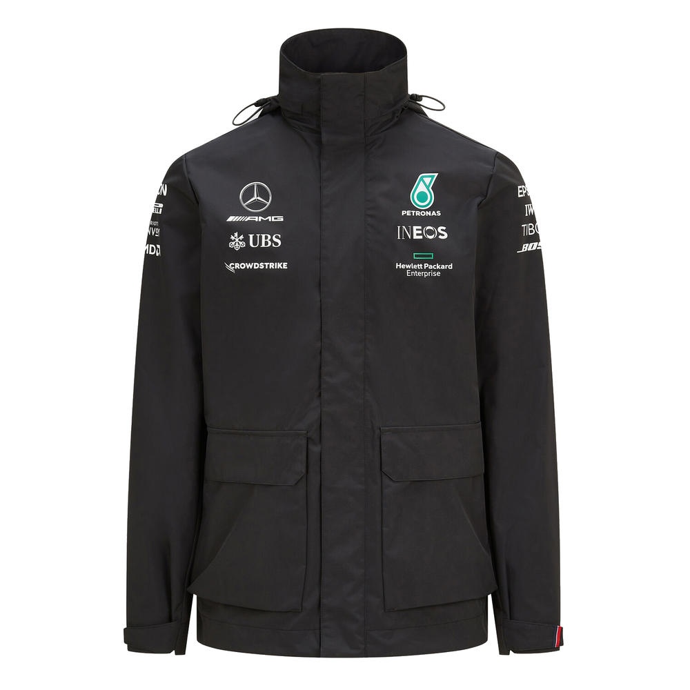 New! 2021 Mercedes-AMG F1 Mens Rain Jacket Lewis Hamilton Bottas Official Coat