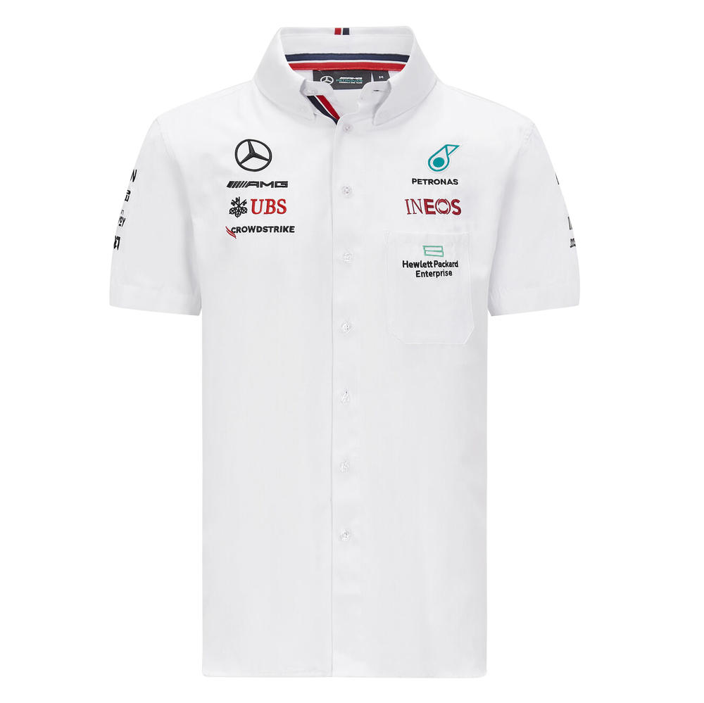 New! 2021 Mercedes-AMG F1 Mens Shirt with Collar Official Formula 1 Merchandise