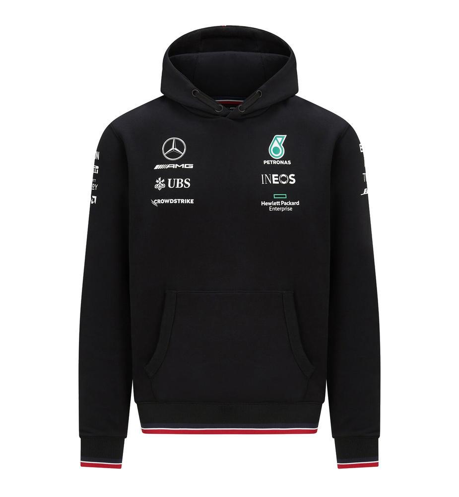 New! 2021 Mercedes-AMG F1 Team Official Mens Hoody Hooded Sweatshirt Hoodie
