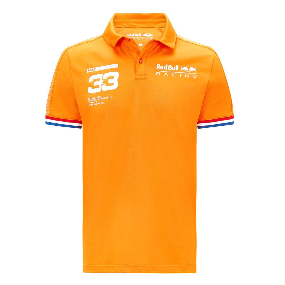 New! 2021 Max Verstappen Polo Shirt Orange Official Red Bull Racing F1 Team