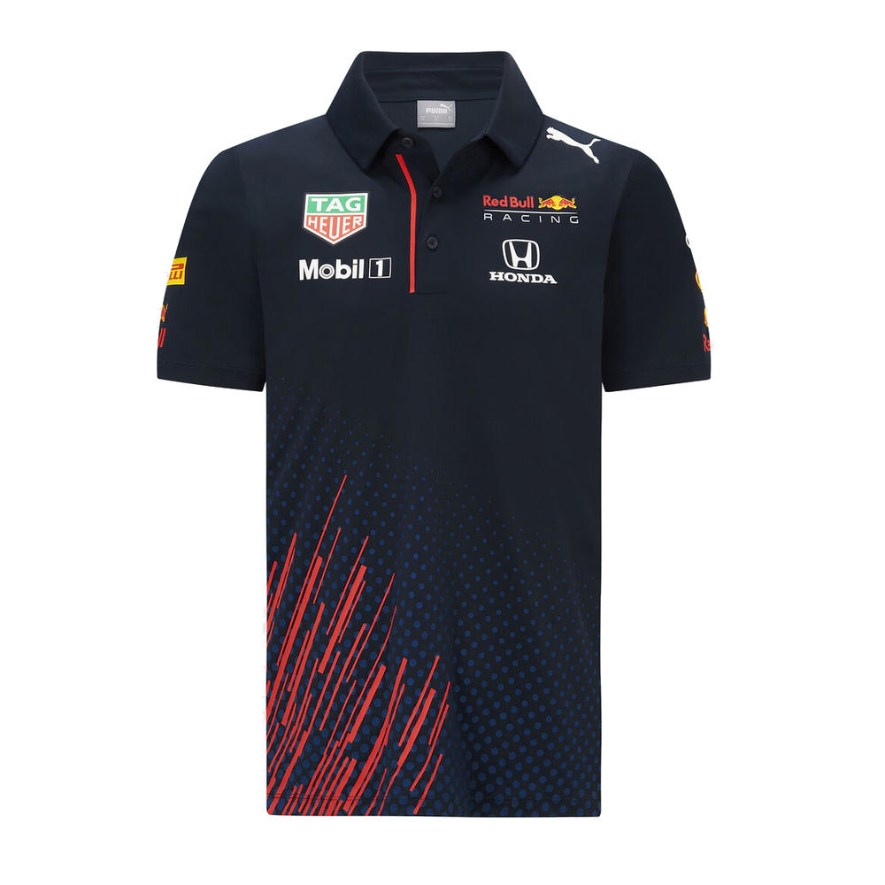 New! 2021 Red Bull Racing F1 Team Kids Polo Shirt Children Kids Age 3-16 Years
