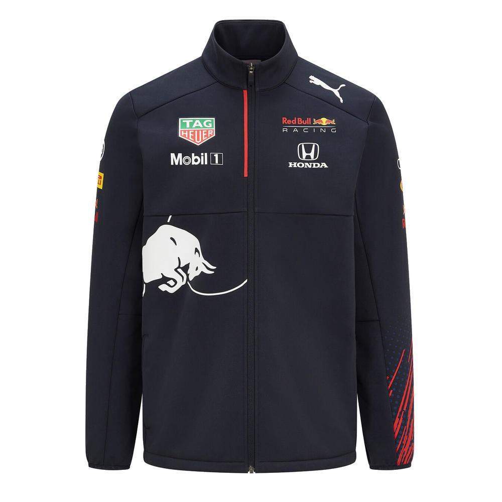 New! 2021 Red Bull Racing F1 Mens Team Softshell Fleece Jacket Coat Official
