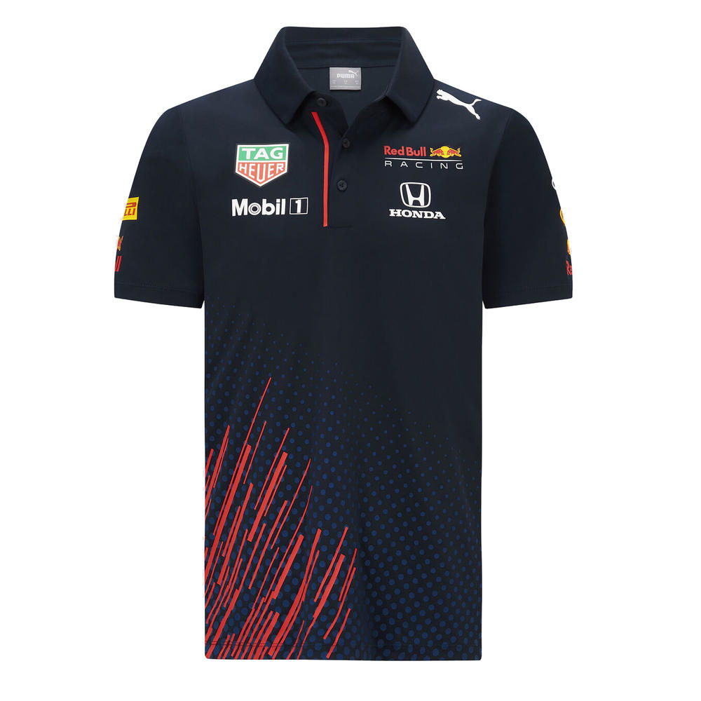 New! 2021 Red Bull Racing F1 Mens Team Polo Shirt Dry Cell Official Merchandise