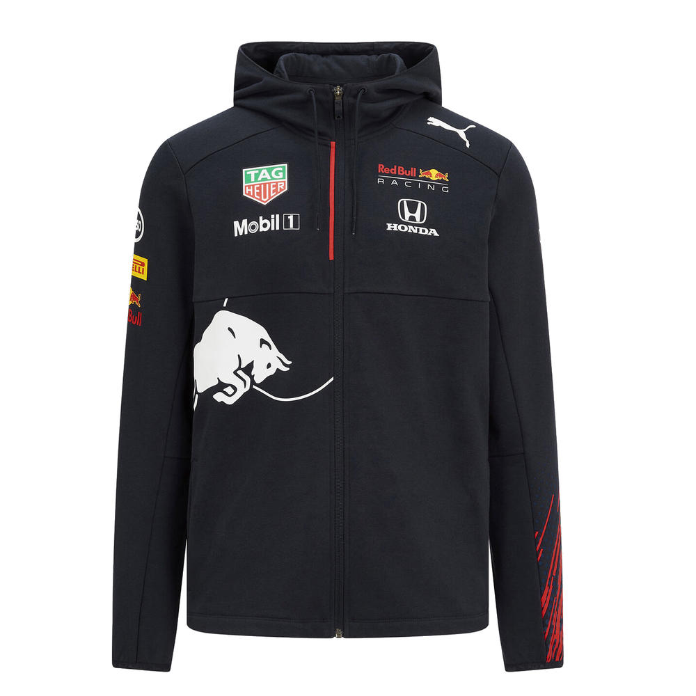 New! 2021 Red Bull Racing F1 Mens Team Hooded Sweat Jacket Hoodie Hoody Top
