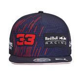 New! 2021 Max Verstappen #33 Flatbrim Cap Adult Size Red Bull Racing F1 Team