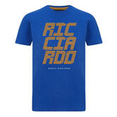 New! 2021 Mclaren F1 Daniel Ricciardo Kids T-Shirt Tee Blue in Childrens Sizes