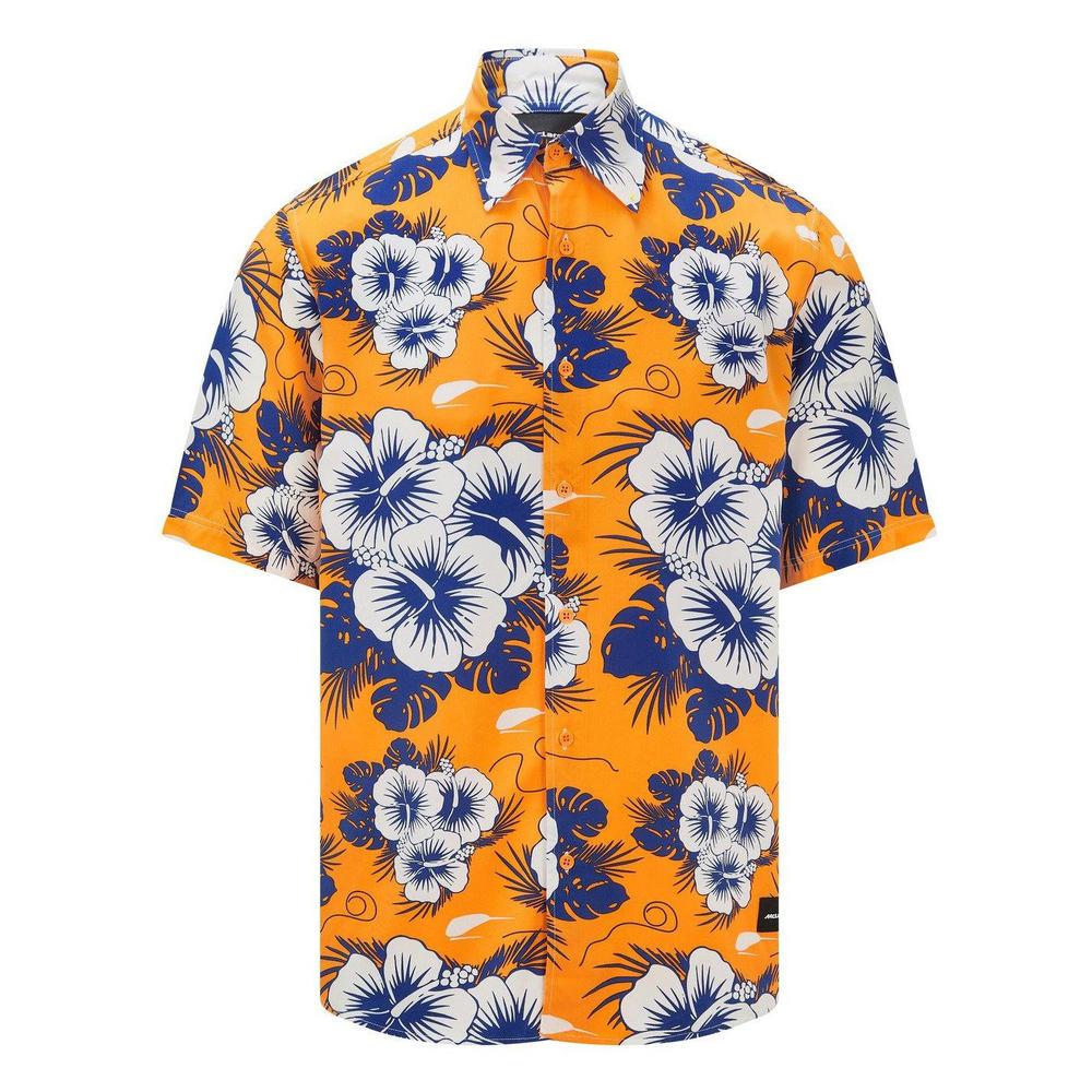 New! 2021 Mclaren F1 Team Mens Hawaiian Shirt Official Formula One Fanwear F1