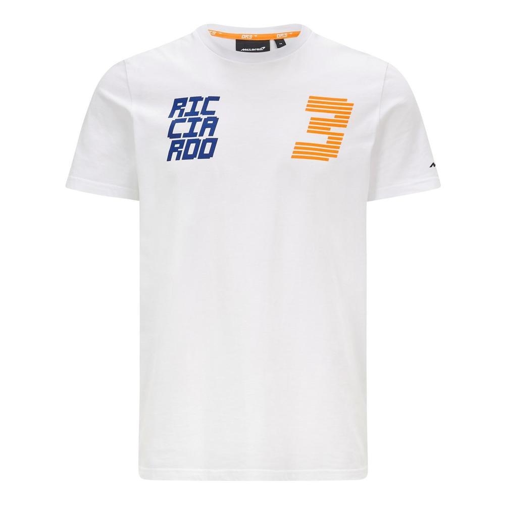 New! 2021 Mclaren F1 Daniel Ricciardo #3 Mens T-Shirt Tee White with DR3 Logo