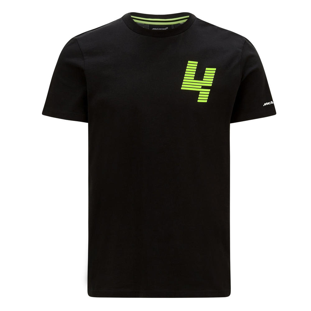 New! 2021 Mclaren F1 Lando Norris #3 Mens T Shirt Tee Glitch Black LN4 Logo