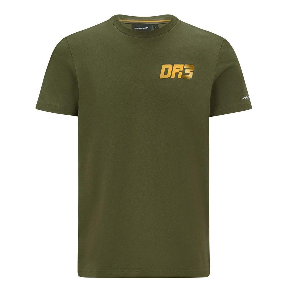 New! 2021 Mclaren F1 Daniel Ricciardo T Shirt Australian Edition Khaki No.3 Logo