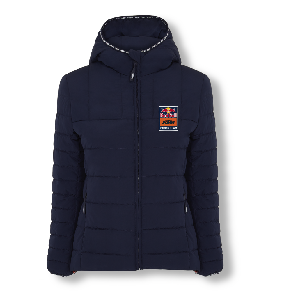 New 2021 MotoGP Red Bull KTM Racing Team Womens Fletch Padded Jacket Ladies Coat