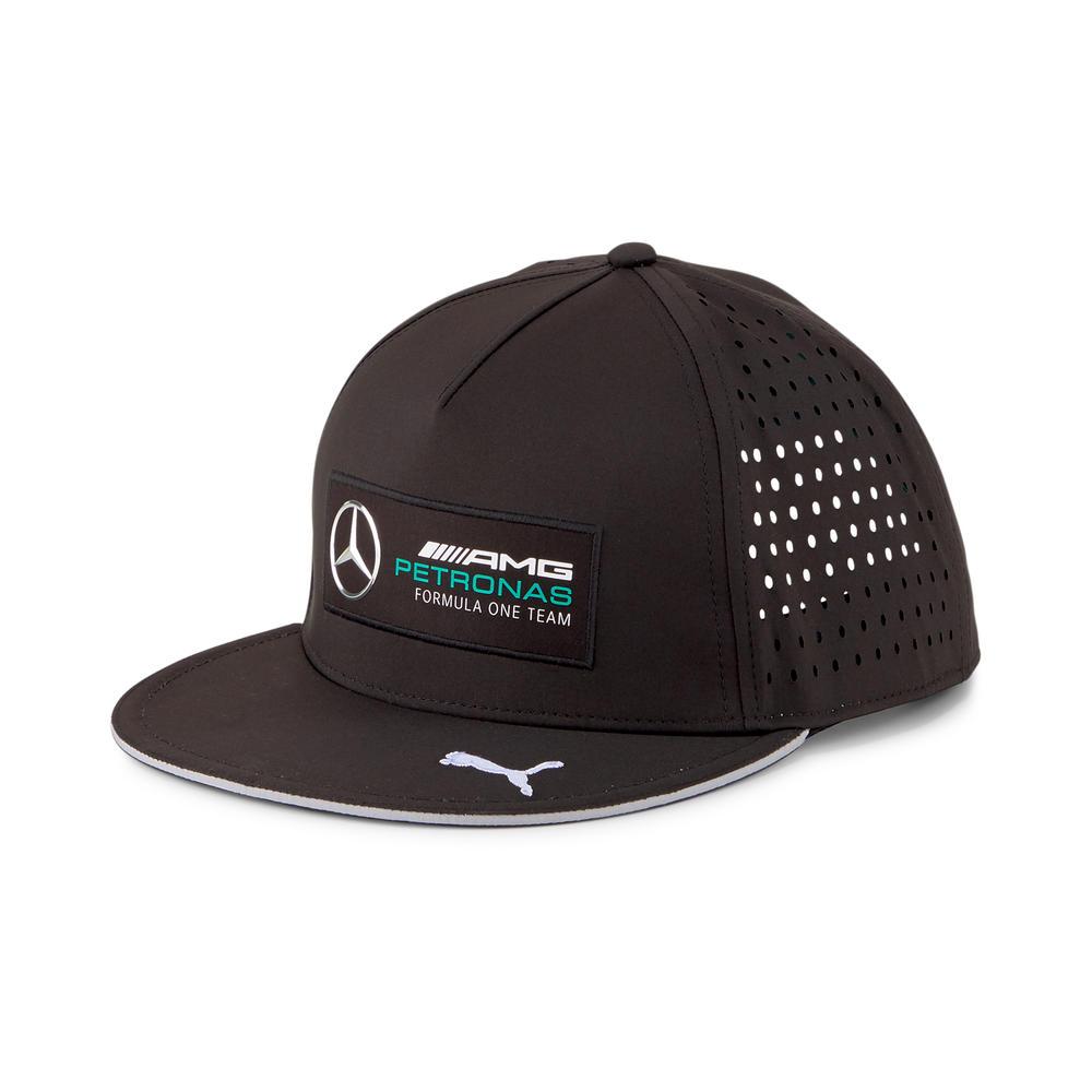 New! 2021 Mercedes AMG F1 Petronas Motorsport Flatbrim Cap Black Adult One Size