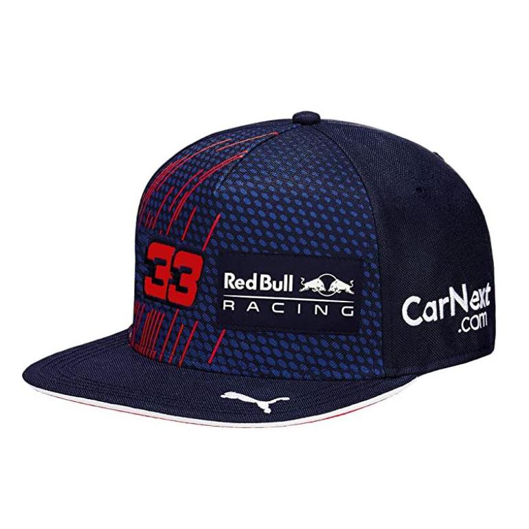 New! 2021 Max Verstappen #33 Flatbrim Cap Adult Official Puma Red Bull Racing F1