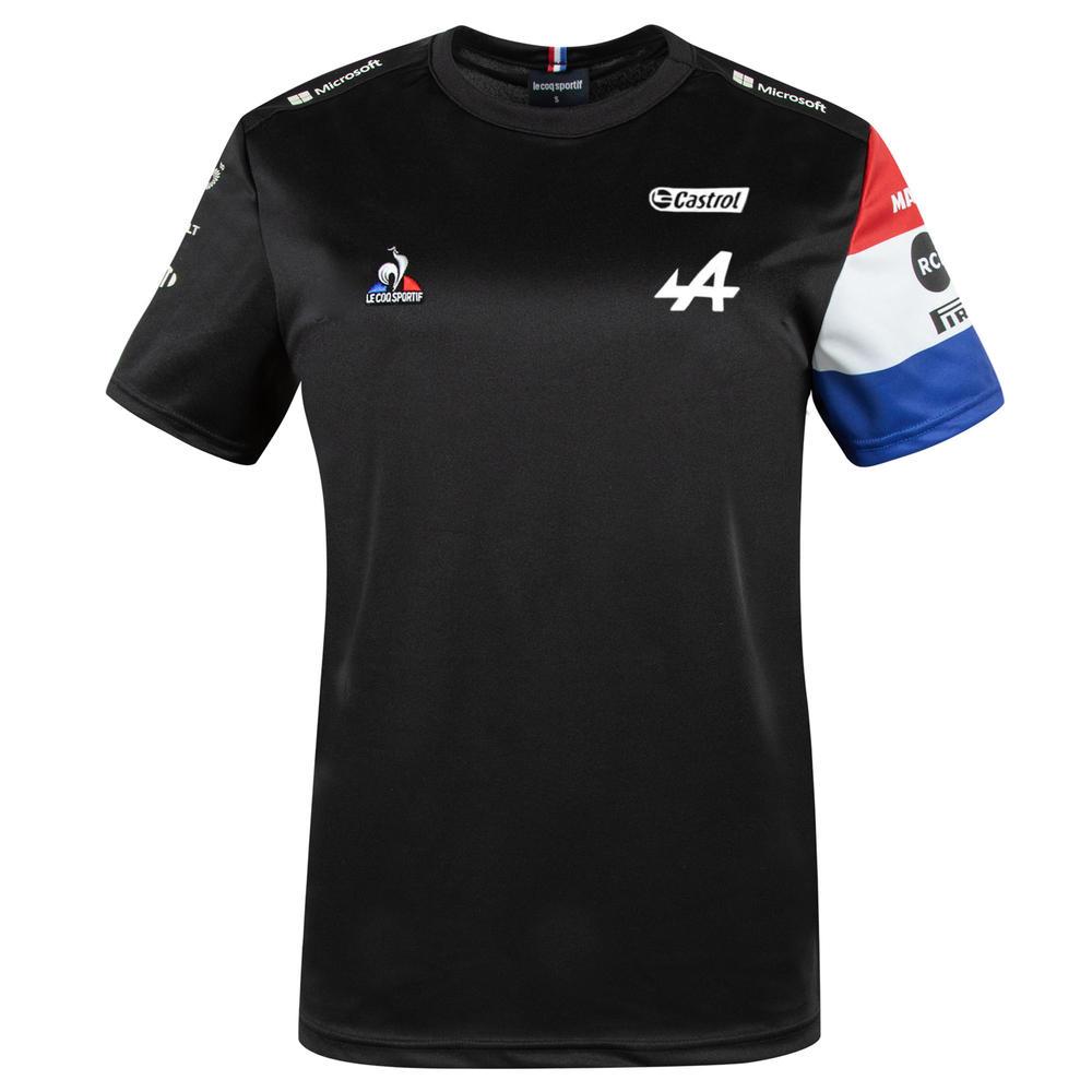 New! 2021 Alpine F1 Team Mens Garage T-Shirt Tee Alonso Ocon Official Fanwear