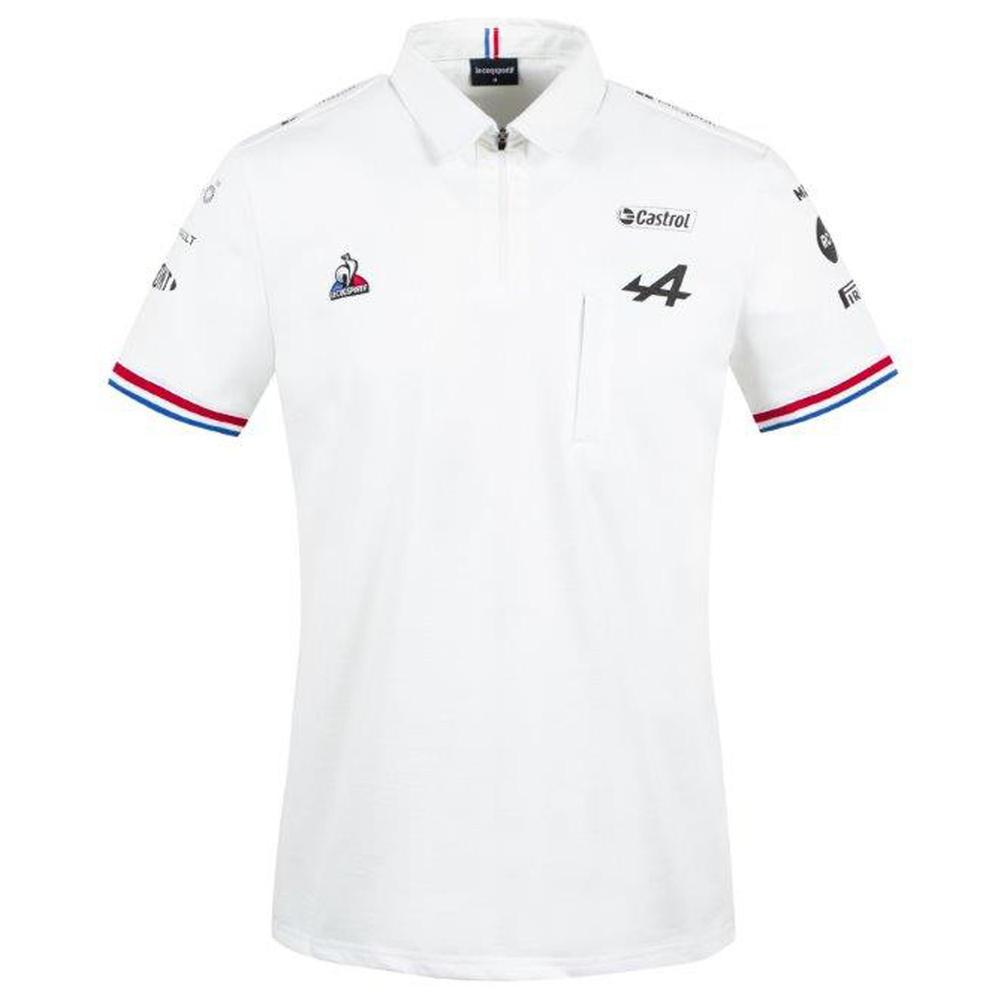 2021 ALPINE F1 TEAM MENS WHITE POLO SHIRT
