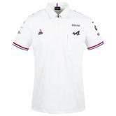 New! 2021 Official Alpine F1 Team Mens White Polo Shirt Alonso Ocon