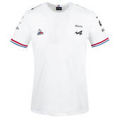 New! 2021 Official Alpine F1 Team Mens White T-Shirt Tee Alonso Ocon
