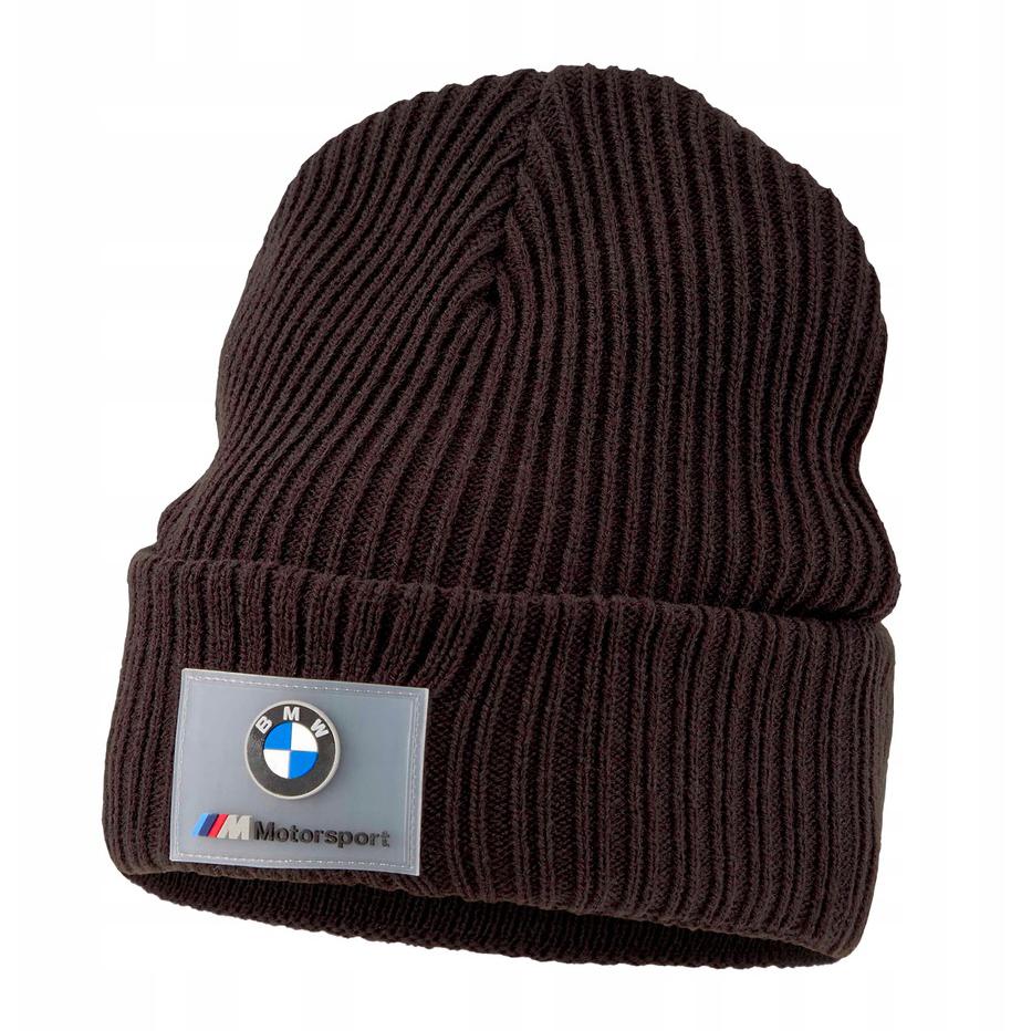 New! 2021 BMW Motorsport Puma Beanie Black Unisex Warm Hat Official Merchandise