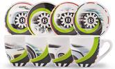 New! 2021 Bentley Motorsport GT3 Espresso Cups & Saucers Set Of Four & Gift Box
