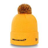 New! 2021 Mclaren F1 Team NEW ERA Essential Bobble Knit Hat Papaya 100% Acrylic