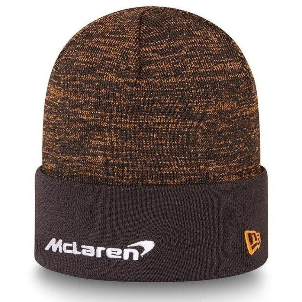 New! 2021 Mclaren F1 Team NEW ERA Beanie Hat Engineered Knit Anthracite Adult