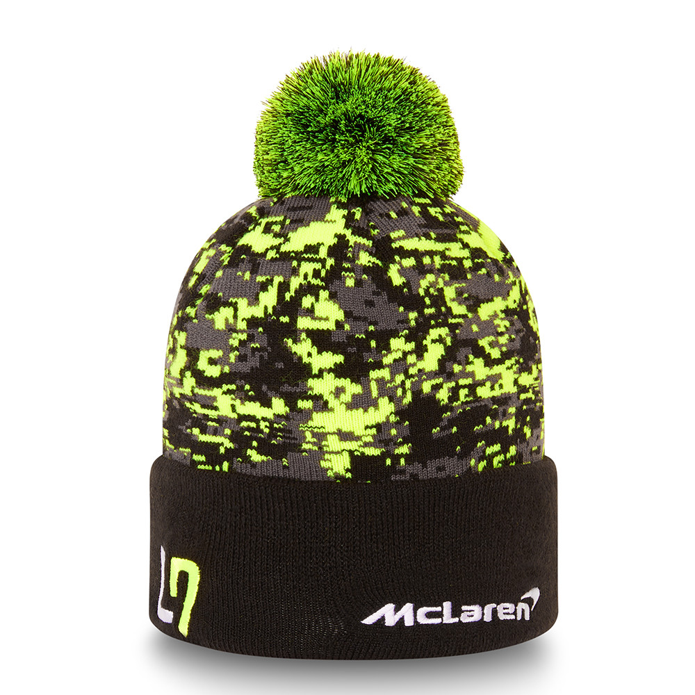 New! 2021 Mclaren F1 Team Lando Norris NEW ERA Beanie Knitted Hat Black/Yellow