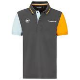 2021 Mclaren FW Gulf Racing Colour Block Mens Polo Shirt Official Merchandise