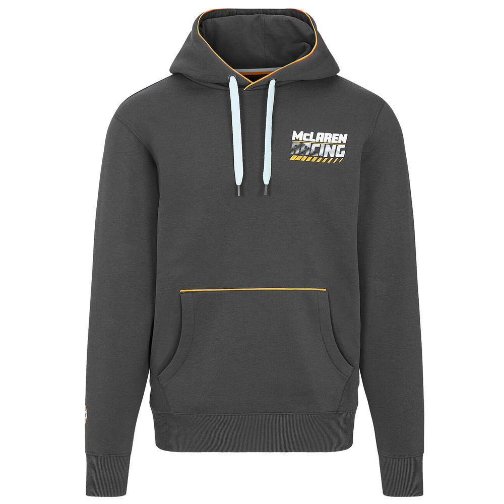 2021 Mclaren FW Gulf Racing Mens Hooded Sweatshirt Grey Official Merchandise