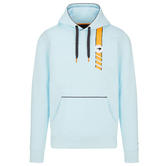 2021 Mclaren FW Gulf Racing Mens Hooded Sweatshirt Blue Official Merchandise