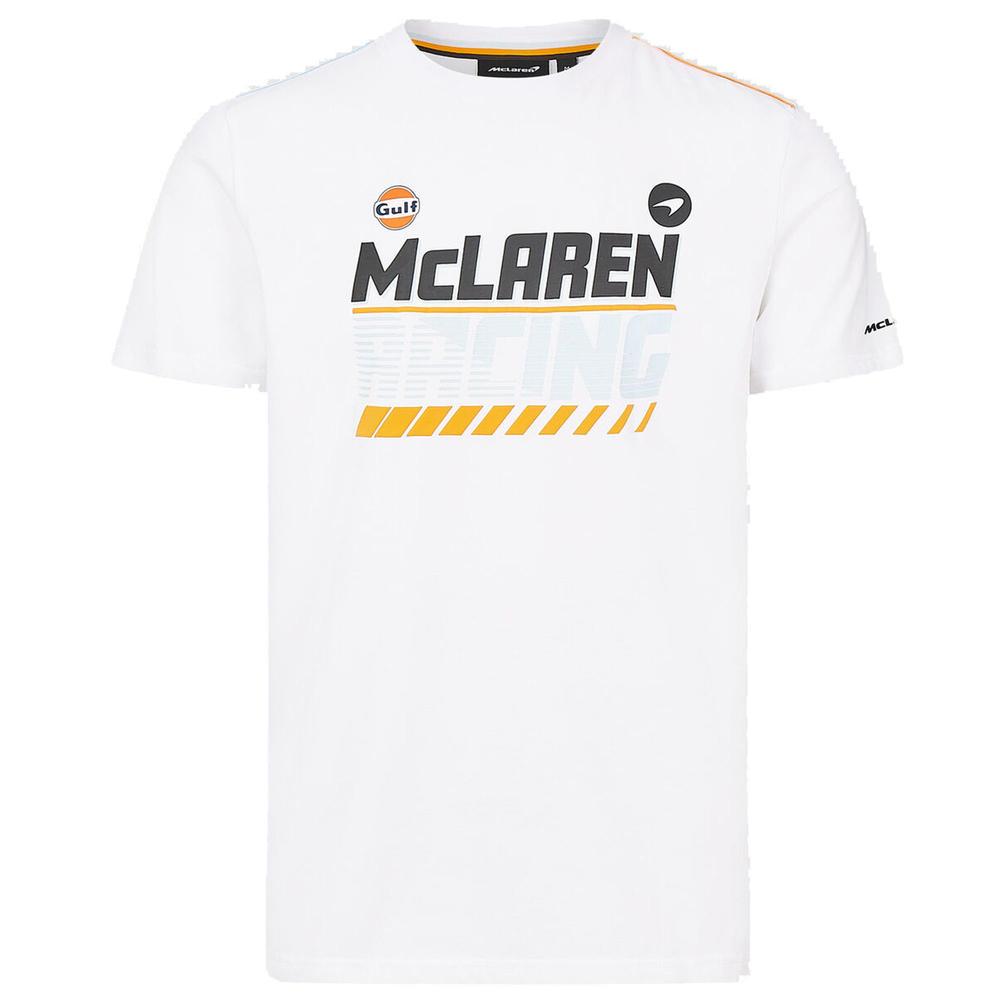 2021 Mclaren FW Gulf Racing Mens Graphic Tee White Official Merchandise