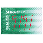 2021 Sergio Perez #11 Fan Flag Dark Green Official Red Bull Racing F1 Team