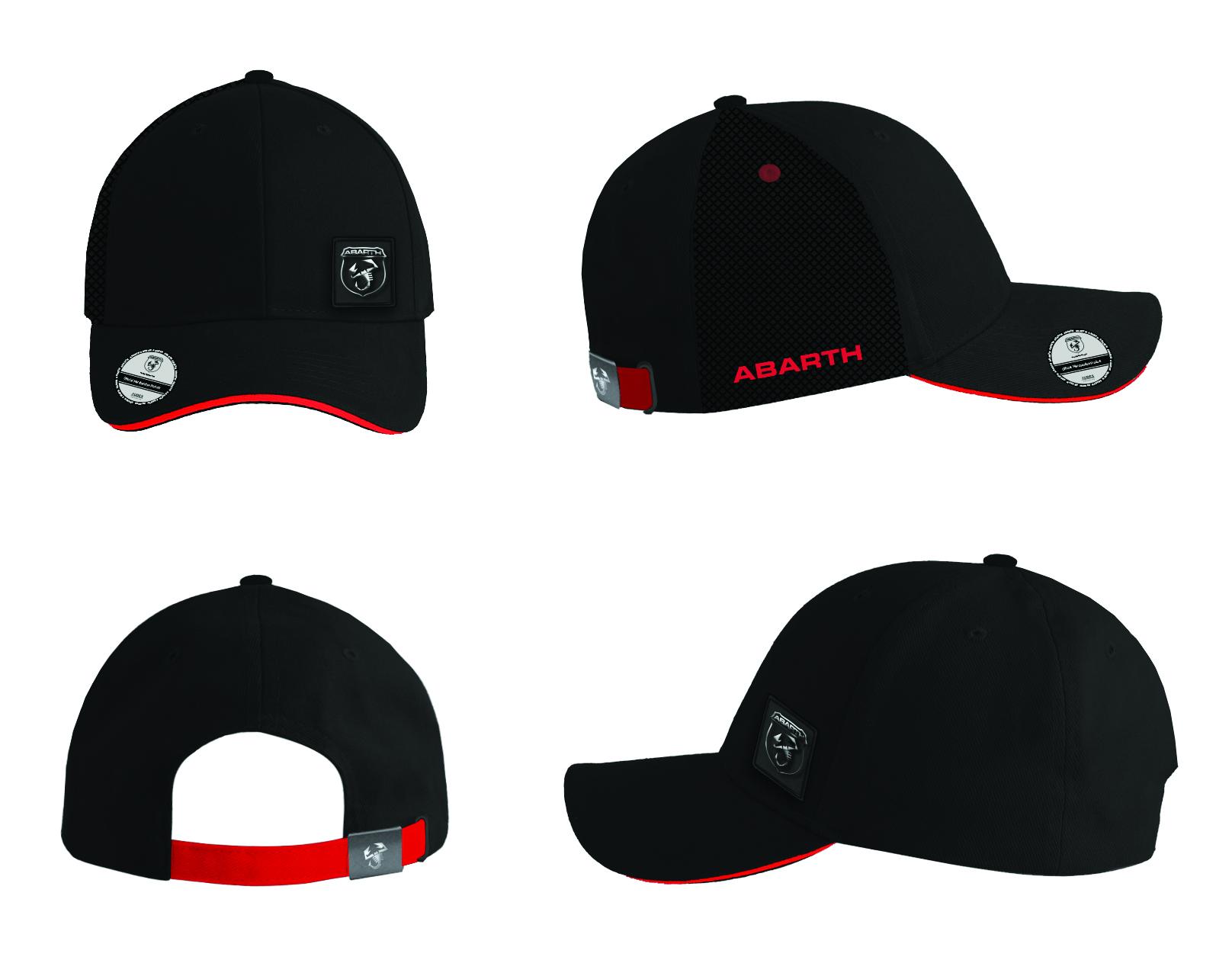 New! 2021 Fiat Abarth Corse Mens Black Logo Baseball Cap Official Merchandise