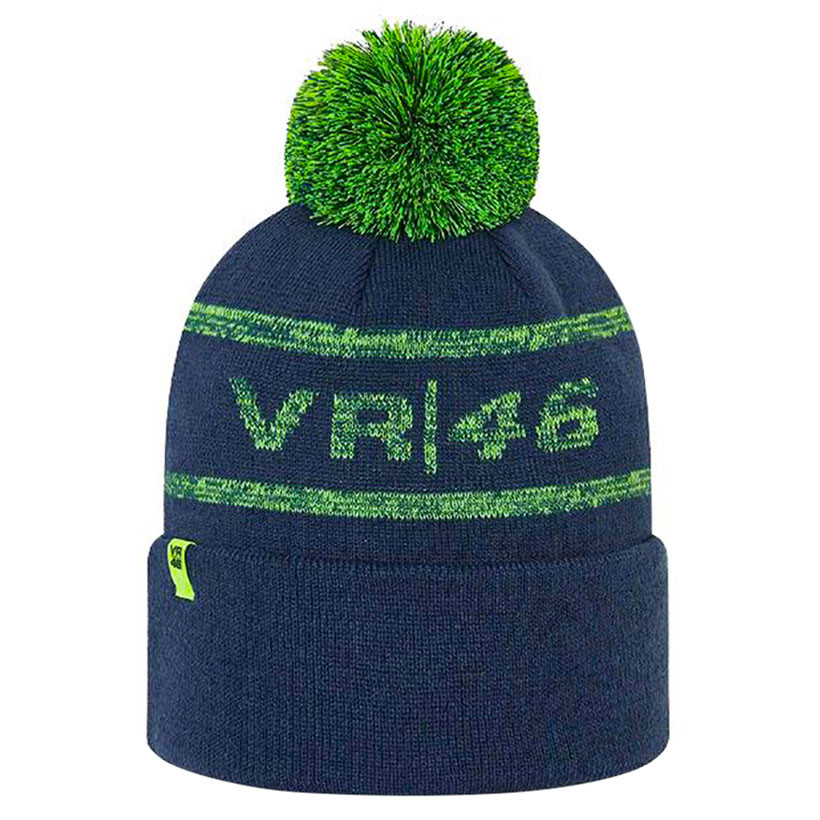 2021 Valentino Rossi VR46 Beanie Cuff Bobble Hat Blue Official Merchandise