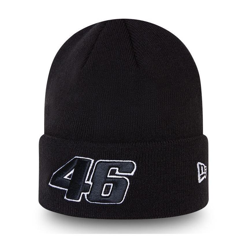 2021 Valentino Rossi VR46 Core Cuff Knit Beanie Black Hat Official NEW ERA Item