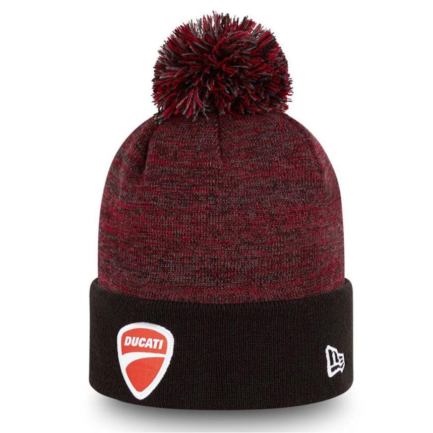 New! 2021 Ducati Corse New Era Beanie Hat Bobble Winter Official Merchandise