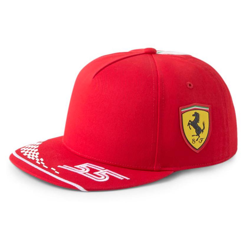 New! 2021 Carlos Sainz KIDS Baseball Cap Childrens Size Official Ferrari F1 Team